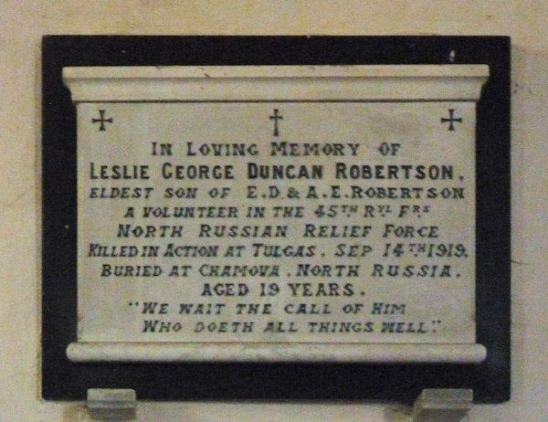 Leslie George Duncan Robertson